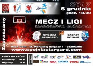 Spójnia Stargard vs Biofarm Basket Poznań – 6.12.2017 r.
