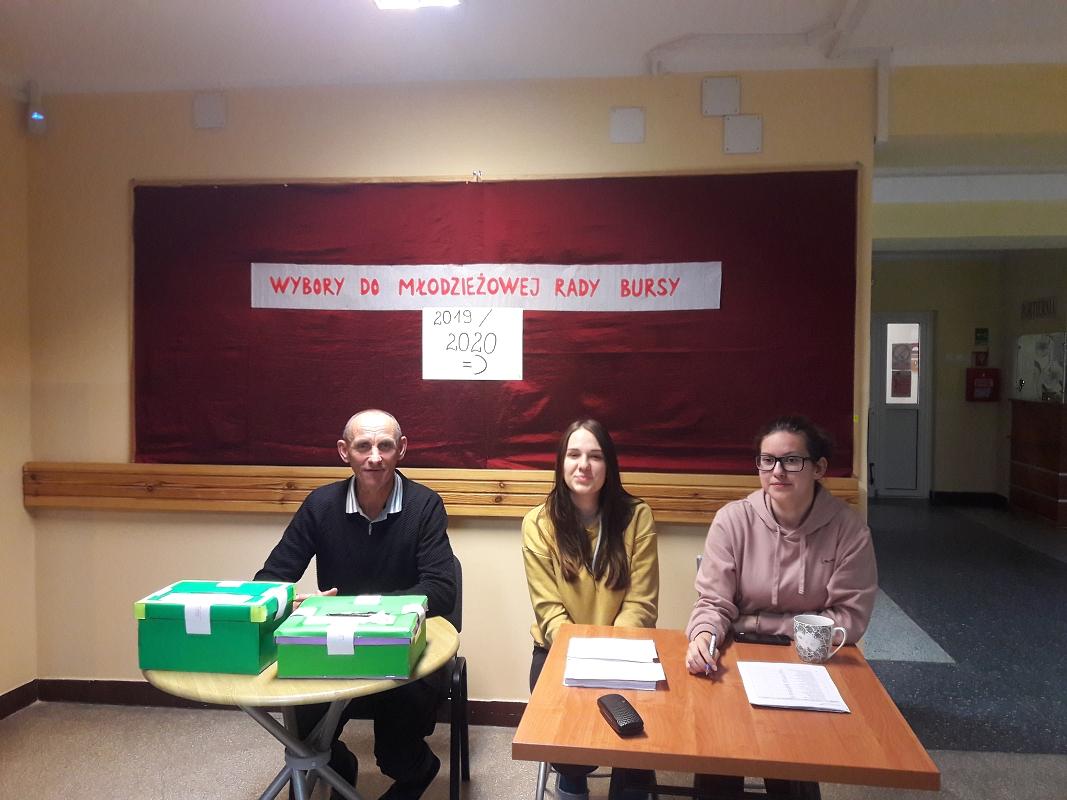 Wybory do zarządu Młodzieżowej Rady Bursy oraz na opiekuna M.R.B.