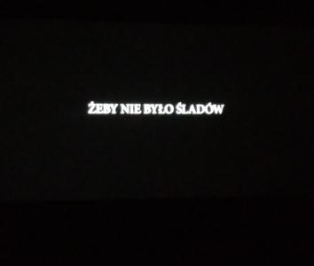 """Wyjście do kina SCK na film pt. """"Żeby nie było śladów"""""""